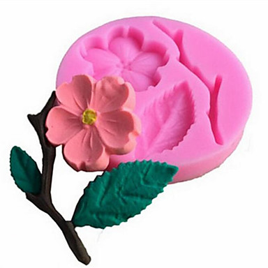 Peach Blossom Flower Silicone Cake Mold Fondant Decorate Baking Tool