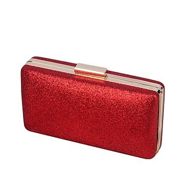 Women's Bags PU Evening Bag Buttons Black / Silver / Red