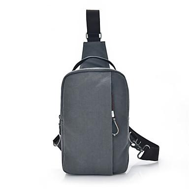 Men's Bags Canvas Sling Shoulder Bag Zipper Military Green / Gray / Khaki