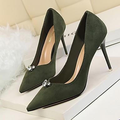 Vellón Otoño Zapatos 06302767 Básico Mujer Primavera Pump Caqui Rosa Verde Tacones q76wt5xt