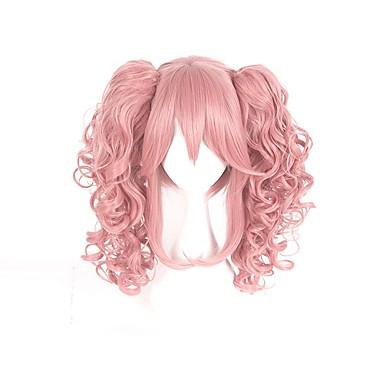 Cosplay Cosplay Écolières Homme Femme 16 pouce Fibre résistante à la chaleur Rose Manga Perruques de Cosplay