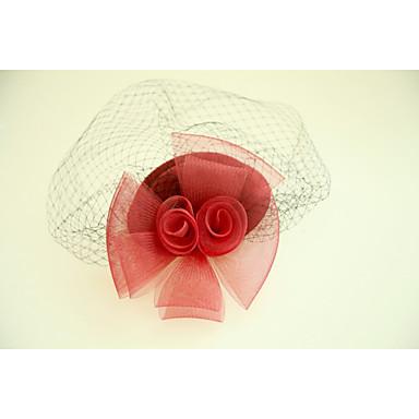 Flannelette Net Fascinators Hats 1 Wedding Special Occasion Headpiece