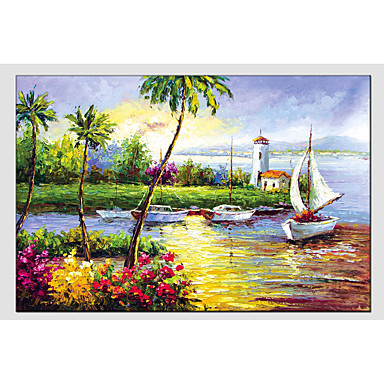 Oil Painting Hand Painted - Landscape Classic Canvas