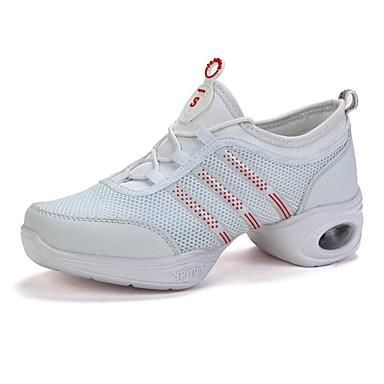 26ce721481 Női Tánccipők Tüll Sportcipő Illesztés Lapos Dance Shoes Fehér / Fekete /  Gyakorlat