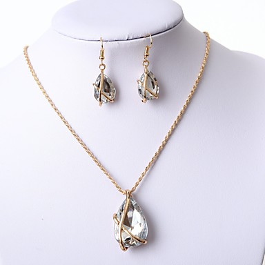 Pentru femei Set bijuterii - Include Cercei Picătură / Lănțișor Negru / Albastru Închis / Rosu Pentru Nuntă / Dată