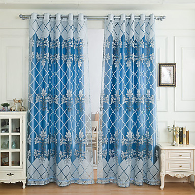 Blackout Curtains Drapes Living Room Pattern Embroidery