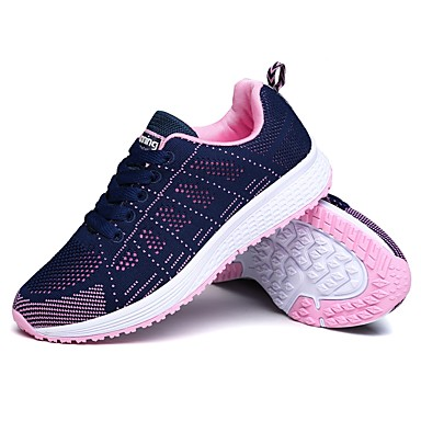 13dc1b8544e735 Women s Shoes Breathable Mesh Spring   Fall Light Soles Athletic Shoes  Running Shoes Round Toe Black   Gray   Blue+Pink