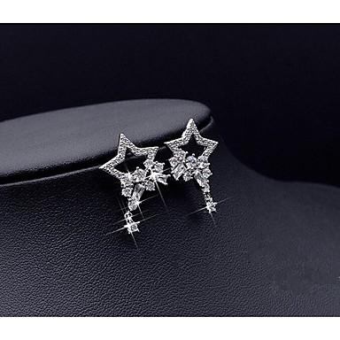 Women's Star Stud Earrings - Silver Star Earrings For Wedding Party