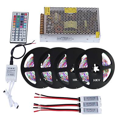 HKV 20 m Világítás készletek 1200 LED 3528 SMD RGB Cuttable / Tompítható / Összekapcsolható 12 V 1set / IP65 / Öntapadós / Színváltós