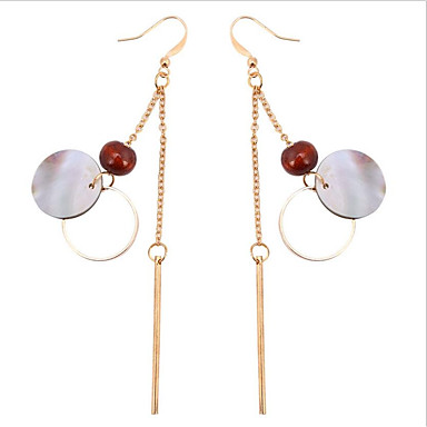 Women's Hoop Earrings - Imitation Pearl, Gold Plated Gold / Wedding