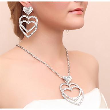 Női Ékszer szett - Szív tartalmaz Függők Nyaklánc Arany / Ezüst Kompatibilitás Esküvő Parti