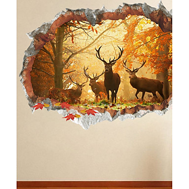 Animals Wall Stickers Plane Wall Stickers Decorative Wall Stickers 3D, Paper Home Decoration Wall Decal Wall