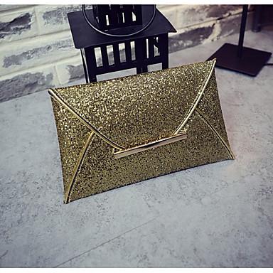 Kadın's Cep Clutch PU Şampanya / Altın / Siyah