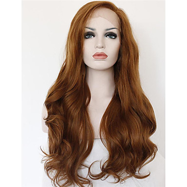 Synthetic Lace Front Wig Curly / Wavy Synthetic Hair Brown Wig Women's Medium Length / Long Lace Front