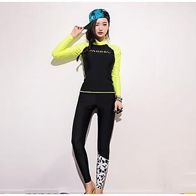 Women's Quick Dry Spandex Long Sleeve Swimwear Beach Wear Top / Bottoms Patchwork Snorkeling / Beach / Watersports / Stretchy
