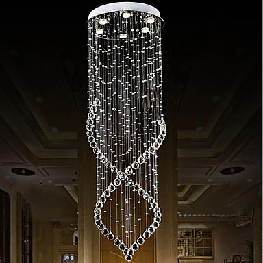 6-Light Csillárok Süllyesztett lámpa - Kristály, Az izzó tartozék, A tervezők, 110-120 V / 220-240 V, Meleg fehér / Hideg fehér, Az izzó tartozék / GU10 / 10-15 ㎡
