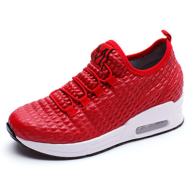 Women's Shoes PU(Polyurethane) Summer / Fall Comfort Sneakers Black / Red / Pink