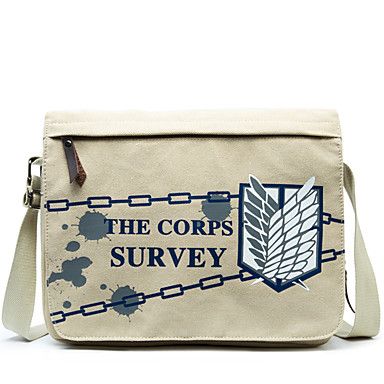 Bag Inspired by Attack on Titan Eren Jager Anime Cosplay Accessories Canvas