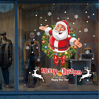 Art Deco Christmas Window Sticker, PVC/Vinyl Material Window Decoration Living Room