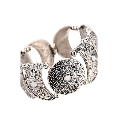 Women's Cuff Bracelet Bracelet - Moon Vintage, Bohemian, Boho Bracelet Silver For Gift Going out