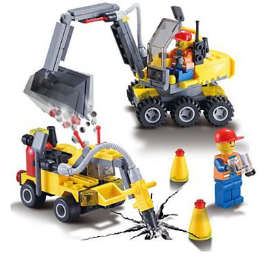 Building Blocks 192 pcs Vehicles Backhoe Loader / Excavator Boys' Gift