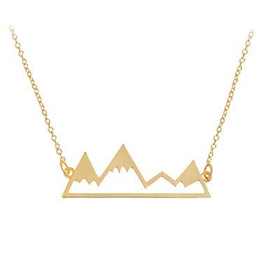 Női Mértani Nyaklánc medálok - Rozsdamentes acél Bohém, aranyos stílus, Boho Arany, Fekete, Ezüst Nyakláncok Ékszerek Kompatibilitás Parti, Munka