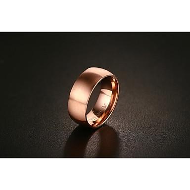 Męskie, Damskie Pierscionek, Band Ring - Pokryte różowym złotem Różowe złoto