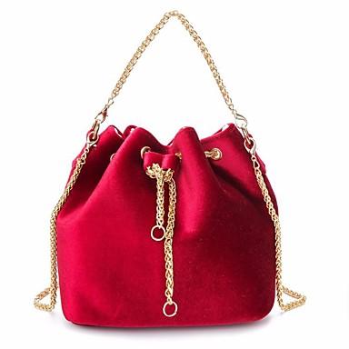 Damen Taschen Samt Tragetasche Tasche Rote / Dunkelgrün / Hell Gray