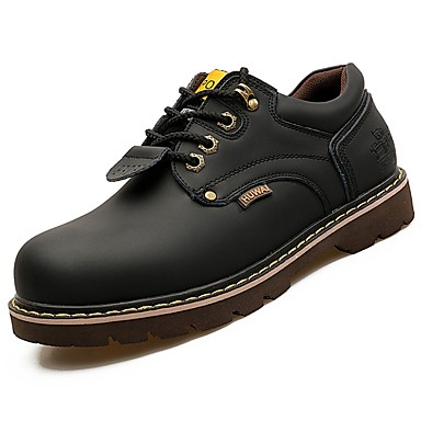 Męskie Buty Nappa Leather Wiosna Jesień Comfort Oksfordki Na Casual Black Yellow Brown Dark Brown