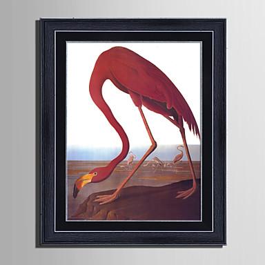 Oprawione płótno Zestaw w oprawie Krajobraz Zwierzęta Wypoczynek Wall Art, PVC (polichlorek winylu) Materiał z ramą Dekoracja domowa rama