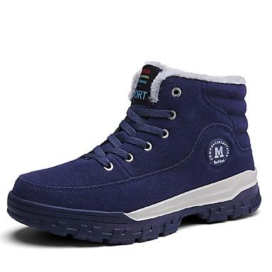 Herren Schuhe PU Herbst Winter Komfort Stiefel Schnürsenkel Für Normal Schwarz Blau