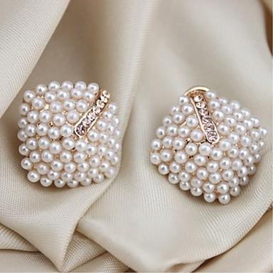 Damskie Kolczyki na sztyft Pearl imitacja Imitacja pereł Biżuteria White Prezent Festiwal Biżuteria kostiumowa
