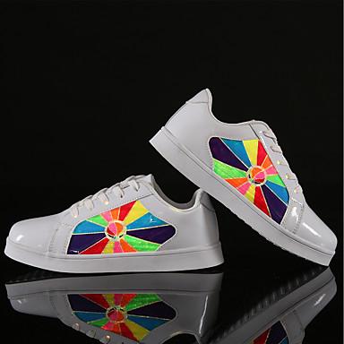 Dla dziewczynek Buty Derma Materiał do wyboru Syntetyczny Zima Jesień Świecące buty Lekkie podeszwy Comfort Tenisówki LED Szurowane na