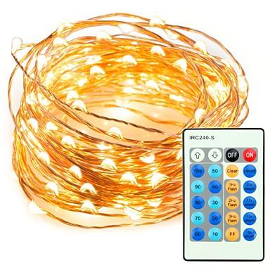 zdm 10m 100led string lights ir 24-klawiszowy kontroler z zasilaczem 12V / 1a mini małe lampki ledowe na elastycznym cienkim srebrnym druciku migoczący mrugający równomiernie