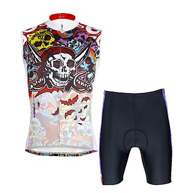 ILPALADINO Męskie Bez rękawów Koszulka z szortami na rower - Camouflage kamuflaż Rower Kamizelka Spodenki snowboardowe Zestawy odzieży,