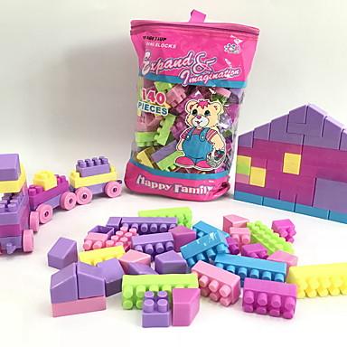 hesapli Oyuncaklar ve Oyunlar-Legolar 140 pcs Evler / Kuyruk / Ev El Çantaları / Karikatür Oyuncak / Karton Dizayn Tren Genç Erkek Hediye