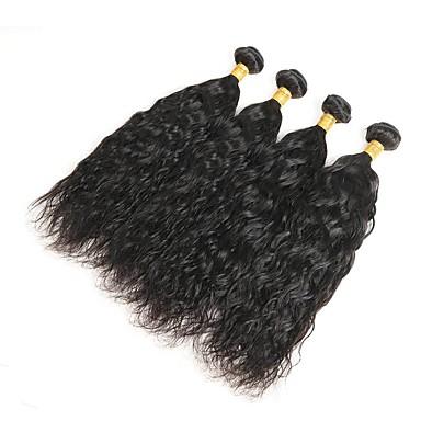 Włosy peruwiańskie Włosy remy Naturalne fale Ludzkie włosy wyplata 4 Człowieka splotów włosów