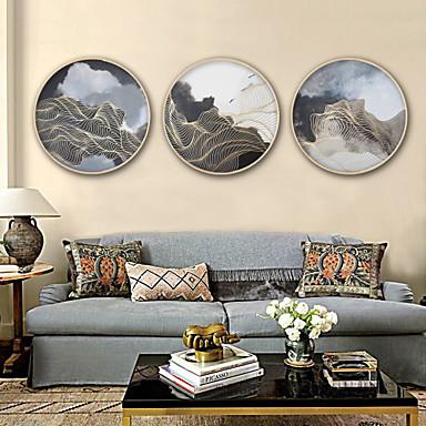 Oprawione płótno Zestaw w oprawie Streszczenie Kaprys Wall Art, PVC (polichlorek winylu) Materiał z ramą Dekoracja domowa rama Art Living