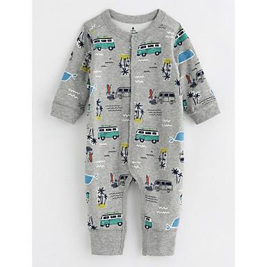 Baby Jungen Mit Mustern Langarm Baumwolle Anzug & Overall