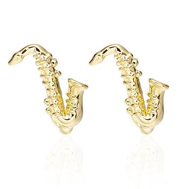 Golden Manžetové knoflíčky Mosiądz Instrumenty muzyczne Impreza / Wieczór / Victoria Style Męskie Biżuteria kostiumowa Na Zaręczynowy