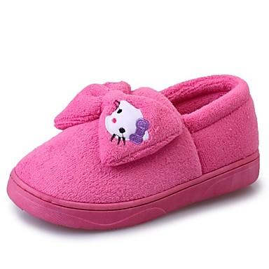 Damskie Obuwie Kaszmir Zima Comfort Mokasyny i pantofle Okrągły Toe Kokarda na Purple / Fuchsia / Różowy