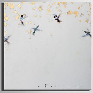 Hang-Malowane obraz olejny Ręcznie malowane - Zwierzęta Rustykalny / Nowoczesny Brezentowy / Walcowane płótno