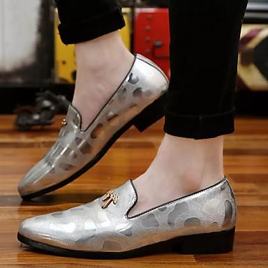 Miehet kengät PU Talvi Syksy Comfort Oxford-kengät Käyttötarkoitus Kausaliteetti Kulta Musta