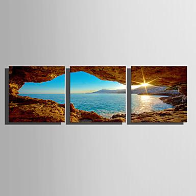 Stampe a tela Set di tele Astratto Paesaggi Tre Pannelli Stampa Decorazioni da parete Decorazioni per la casa