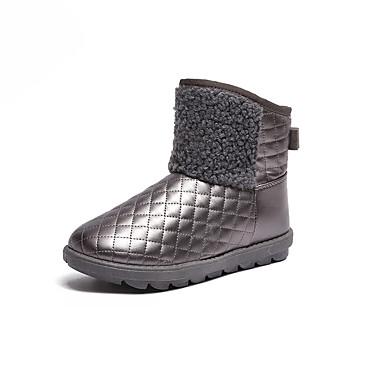 Dámské Boty PU Léto Pohodlné Sandály Chůze Block Heel Otevřený palec Přezky Pro Bílá Černá Stříbrná Růžová