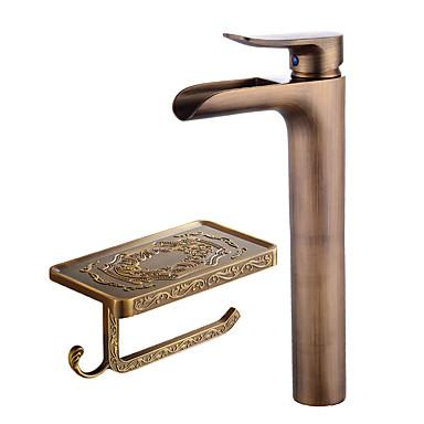 Zestaw baterii - Wodospad Antique Copper Umieszczona centralnie Pojedynczy uchwyt jeden otwór