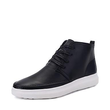 Herrn Schuhe PU Frühling Herbst Komfort Sneakers für Normal Schwarz Braun