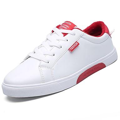 Herren Schuhe PU Frühling Herbst Komfort Sneakers Für Normal Rot Schwarz/weiss Weiß und Grün