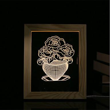 1 zestaw 3d nastrój światło nocne lampy led lampy usb lampa stołowa prezent prezenty jade kapusta