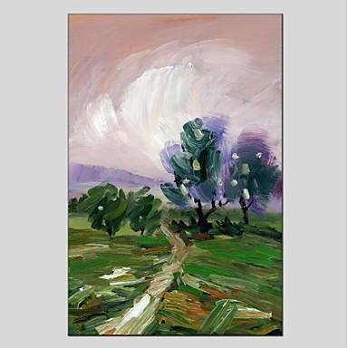 Ręcznie malowane Krajobraz Pionowo Panoramiczny, Nowoczesny Brezentowy Hang-Malowane obraz olejny Dekoracja domowa Jeden panel